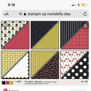 Stampin up retired DSP
